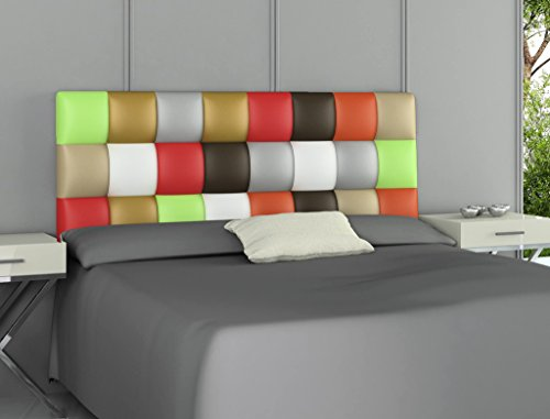 HOGAR24.es - Cabecero tapizado Polipiel Patchwork Multicolor. 160 cm x 60 cm x 3 cm