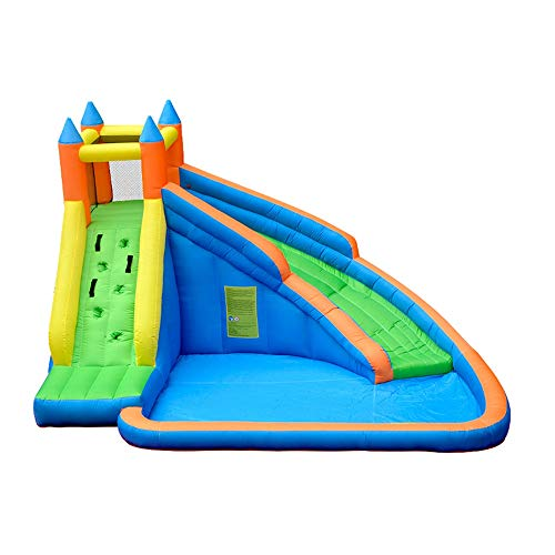 Lowest Prices! Teerwere Inflatable Bounce House Inflatable Bouncy Bounce House Slide Inflatable Wate...
