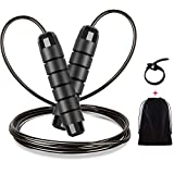 Renoj Jump Rope, Jump Ropes for Fitness, Jump Rope Workout for Exercise (Black)