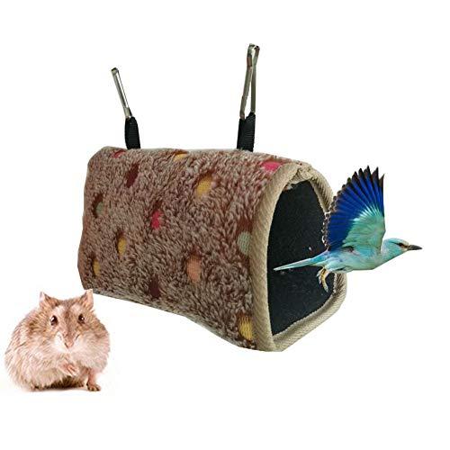 Bello Luna Amaca per Uccelli Capanna per Uccelli Calda per Gabbia con 2 Ganci per pappagalli