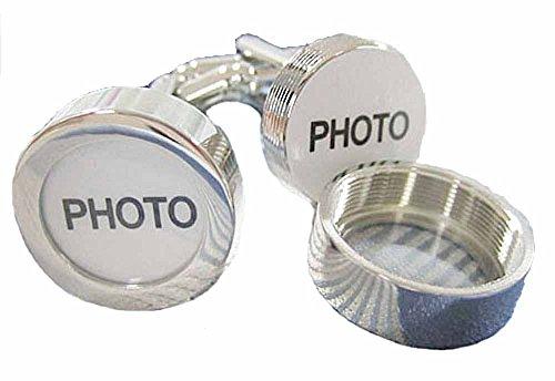 Preisvergleich Produktbild korpikus® Männer glänzende silberne Farbe Edelstahl Foto Manschettenknöpfe In Free Geschenk-Beutel