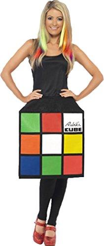 Divertente costume per donna da cubo di Rubik, travestimento completo Multi Small