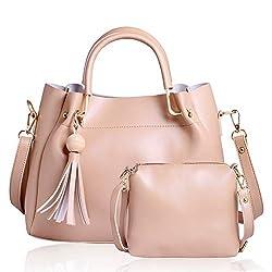 CLASSIC FASHION Womens Pu Hand Bag (Cream)