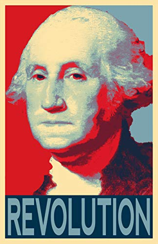 President George Washington United States Founding Father Illustration - American Pop Art USA Home Decor Poster Print (11x17 inches)