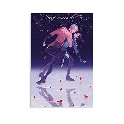 JHDSL Yuri on Ice - Poster da parete con anime giapponesi, manga Yuri e Victor, 20 x 30 cm
