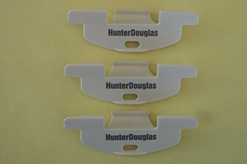 """Hunter Douglas LiteRise Handles for Duette and Applause Cordless Shades (3/8"""" Pleat Aspin White) for Round Off Bottom Rail"""