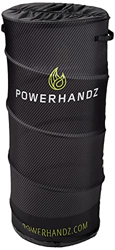 POWERHANDZ Pop Up Defender- Portable and Collapsible Sports Training Equipment for Basketball, Football and Soccer with Built-In Storage (3.5 Ft Tall)