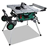 Product Image of the Hitachi C10RJ 10' 15-Amp Jobsite Table Saw with 35' Rip Capacity and Fold and Roll Stand
