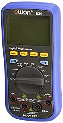 Owon B35/T+ Digital Multimeter with Temperature Meter, Bluetooth Interface T with True RMS