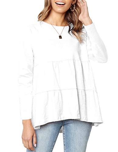 Kimiee Women's Long Sleeve Loose T Shirt High Low...