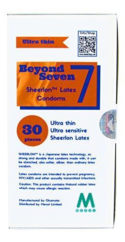 Beyond Seven Sheerlon Latex Kondome (Box 30 Stück)