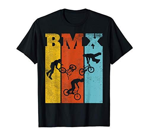 BMX Letters Bike Stunts Retro Biking Cycling Bicycle Gift Camiseta