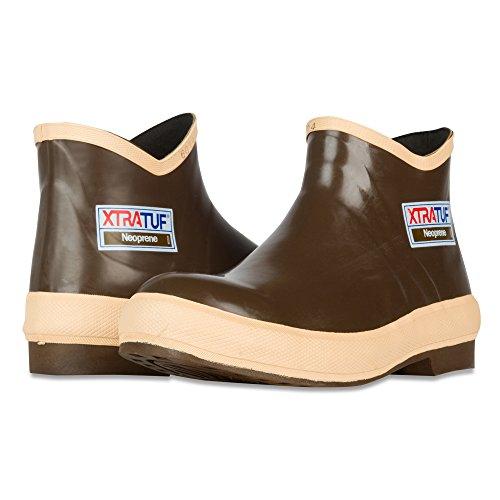 """XTRATUF Legacy Series 6"""" Neoprene Low Cut Men's Fishing Shoes, Copper (22170G), 10"""