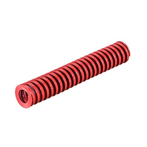 16 mm OD 90 mm lang Spirale Prägung Kompressionsform für mittlere Belastung Die Spring rot 1 Stück
