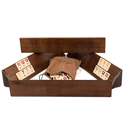 VIP Personalizable Rummy Cube Game Set - Straight Wooden Rummy Cube Game Set