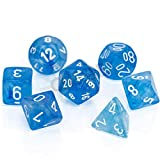 Chessex Polyhedral 7-Die Set - Borealis Sky Blue/White with Luminary 27586 (CHX27586)