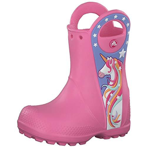 crocs Mädchen Gummistiefel Fun Lab Unicorn Patch Rain Boot 206175 Pink Lemonade 22-23