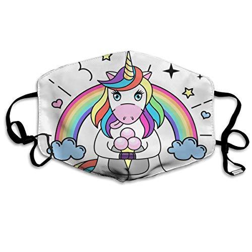 Sitear Fantasy Dierlijk Paard Eenhoorn Met Ijs Aangepaste Masker Geactiveerd Koolstof Katoen Stofdicht Unisex Voor Outdoor Reizen
