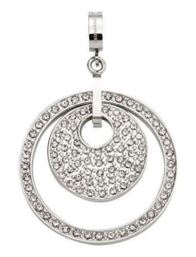 Jewels by Leonardo DARLIN'S Damen-Anhänger Filigrana, Edelstahl mit klaren facettierten Kristallen, Größe (B/H/T): 30/46/8 mm, 016716