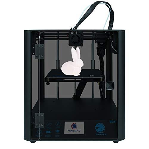 FVE D01 Stampante 3D assemblata con acrilica, touchscreen a colori da 3,5 pollici, funziona con PLA, ABS, SIDES, PC, PVC