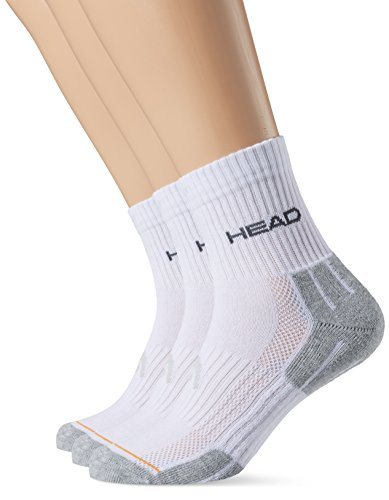 Head Herren Socke Performance, 3er Pack, Weiß/Grau, 39-42, 811904-WHG-2