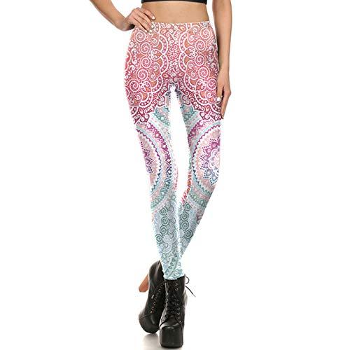 WBFZ Pantalones Largos De Yoga para Mujer, Mallas Deportivas, Mallas para Correr, Pantalones De Fitness Elásticos De Cintura Alta, Mallas Elásticas Estampadas, Mallas De C-L