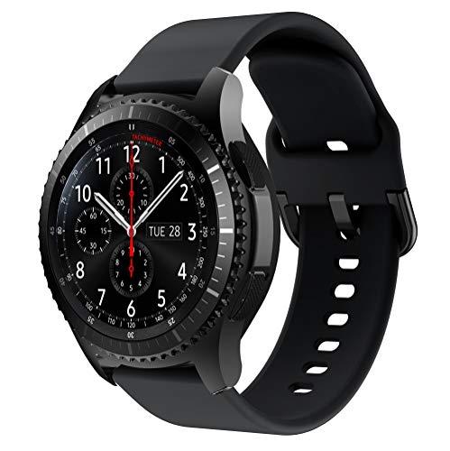 YPSNH Kompatibel für Samsung Gear S3 Armband 22mm Silikon Ersatz Sport Uhrenarmbander für Samsung Galaxy Watch 3 45mm/Gear S3 Frontier/S3 Classic/Galaxy Watch 46mm/Huawei Watch GT 46mm/Ticwatch Pro