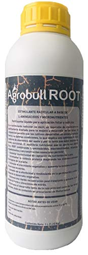 | AGROBULL | ENRAIZANTE LIQUIDO ORGANICO CON HORMONAS NATURALES 1 LITRO | ESTIMULADOR DE RAICES | (1 Litro)