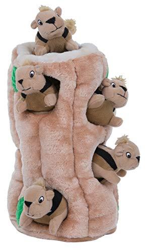 Outward Hound Kyjen Hide A Squirrel pluche hondenspeelgoed piepspeelgoed 4-delig, Größe XXXL