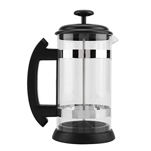 Find Discount Coffee Pot, MAGT Portable Transparent Stainless Steel Coffee Press Pot Home Office 500...