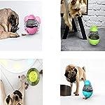 JIMACRO Dog Tumbler Ball, Balle Distributeur de Nourriture pour Chien de Tumbler, Jouet Interactif à Friandises Nourriture Titulaire, Balle de Traitement de QI pour Chien Chat (Yellow) #3