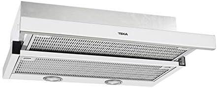 Teka Cocina Extensible | Modelo: CNL 6400 | Campana con 2 Motores | 3 velocidades de extracción | Ancho de 60 cm | Color Blanco, Acero Inoxidable
