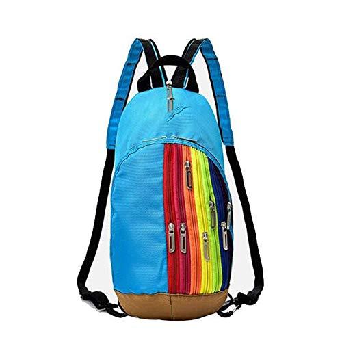 Yi-xir Diseño de moda exterior de montañismo bolsa de hombro nueva mujer bolsa de deporte exterior bolsa de deporte bolsa de arco iris mochila mochila infantil ligera y duradera (color: 02, tamaño: A)