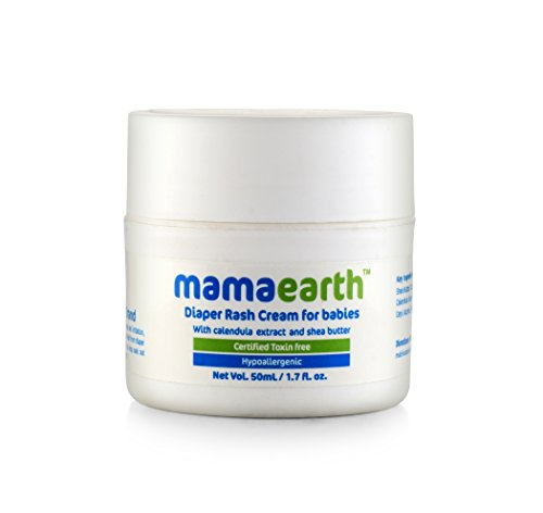 Price comparison product image Mamaearth Baby Diaper Rash Cream with Zinc Oxide (Maximum Strength) for Babies,  Made in The Himalayas- Hypoallergenic,  Toxin-Free,  All Natural with Organic Ingredients (50ml)