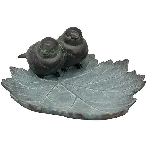 Exner Abreuvoir pour oiseaux TroupeR, pétales avec deux oiseaux à poser