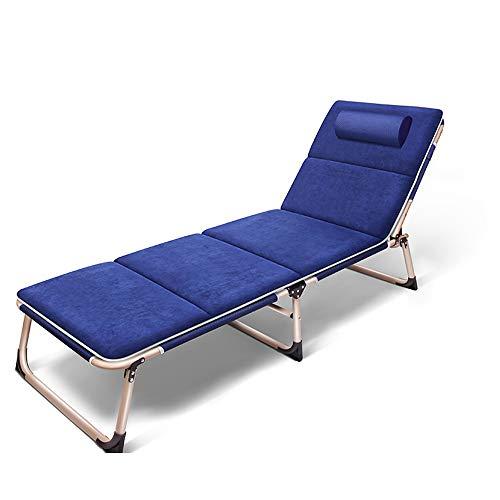 YQAD - Tumbona plegable de metal, portátil, para el hogar, oficina, jardín, patio, playa, exterior, 3 sillas