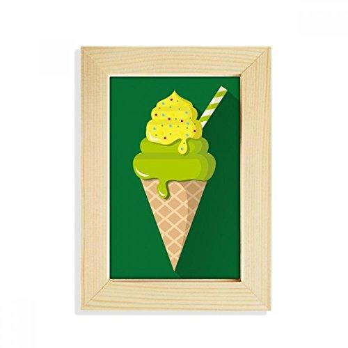 DIYthinker groene matcha ijs kegels popsicles bureaublad houten fotolijst foto kunst schilderij 5X7 inch