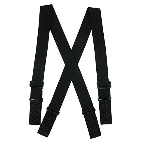 CTM Men's Elastic Heavy Duty Ergonomic Support Suspenders with Hook & Loop Ends