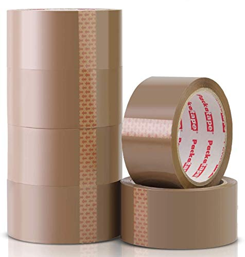 Packatape 6 Rolls General Purpose Packaging Tape - Brown 48mm x 66m