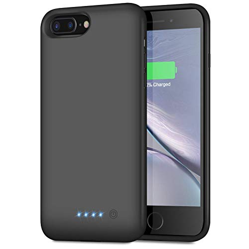 Trswyop Akku Hülle für iPhone 6 Plus /6s Plus/7 Plus/8 Plus, 【8500mAh Hohe Kapazität】 Zusatzakku Handyhülle Power Bank Battery Case Akkuhülle für iPhone 7 Plus/6S Plus/8 Plus/6 Plus [5,5 Zoll]