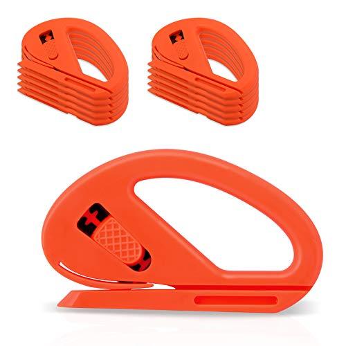Ehdis 10 Stück Cutter Messer Sicherheitsmesser Allzweckmesser Papier Schneidemesser Anwendung Messer Autofolie für Papier, Faser, Geschenkpapier, Lackschutzfolien, Autofolie
