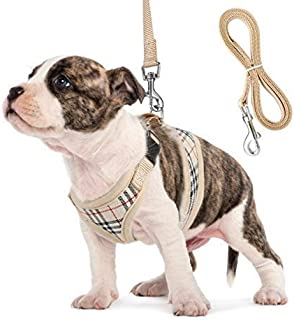 Unihubys Small Dog Harness and Leash Set, Adjust Mesh Dog Harness for Small Dogs/Chihuahua, Lightweight Mesh Cat Harness,Padded Mesh Material for Breathability and Secure Fit