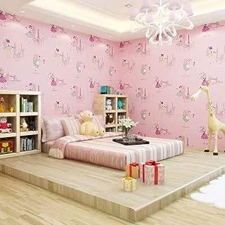 BIGKAM Cute Children's Kids Room Non-Woven Wallpaper Ballet Princess Room Cartoon Wallpaper Korean Pink Bedroom boy Girl Wall Papers