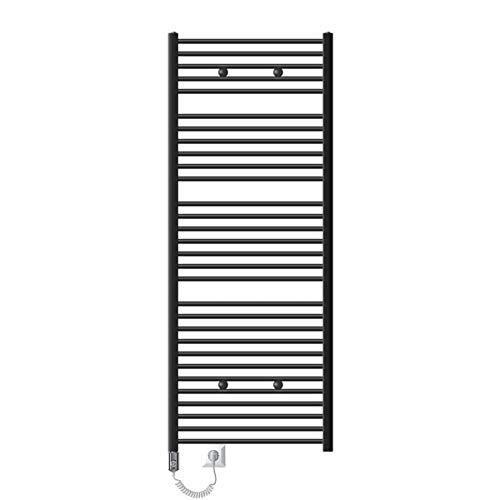 ECD Germany Badheizkörper Sahara Elektrisch mit Heizstab 1200W - 750 x 1800 mm - Anthrazit gerade - Heizkörper Handtuchwärmer Handtuchtrockner