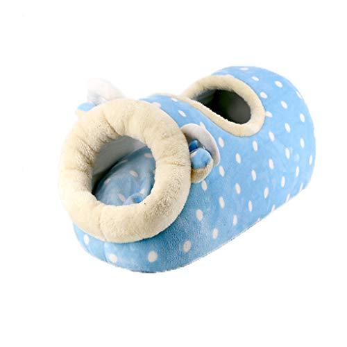 Tll-mm Hundehütte Katzentoilette Pad Kurzstapel-Baumwolle PP Cotton-Wellen-Punkt Four Seasons Universal-85 x 35 x 26cm (Color : Blue)