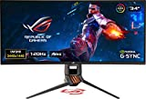 Asus ROG SWIFT PG349Q 34' Curvo UWQHD Gaming Monitor, 3440 x 1440, IPS, fino a 120 Hz, DP, HDMI, USB 3.0, G-SYNC, AuraSync