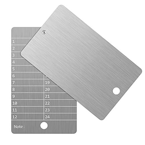 Stahl Bitcoin Geldbörse,Kryptowährung Brieftasche für Hardware Cold Wallet Backup,Bitcoin Crypto Cryptocurrency Seed Storage Kompatibel mit der gesamten BIP39-Hardware(2 Teller)
