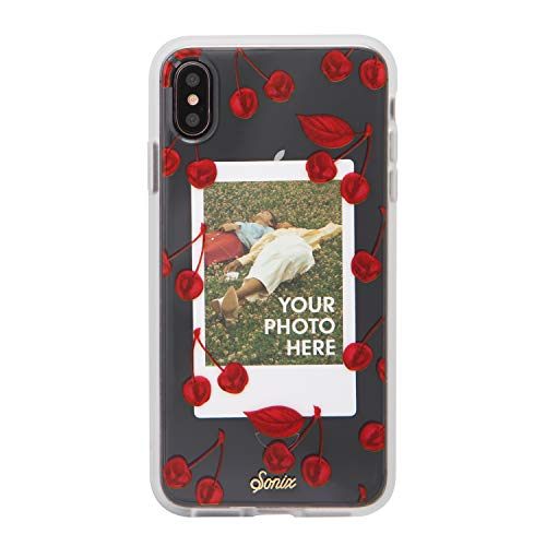 Sonix Cherry Photo Frame Case for iPhone Xs Max [Military Drop Test Certified] Protective Clear Polaroid Picture Case Series for Apple iPhone Xs Max