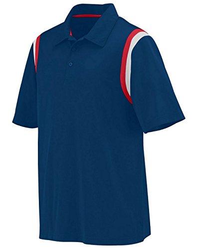 Augusta Sportswear - Camiseta Deportiva para Hombre, Color Azul Marino, Rojo y Blanco