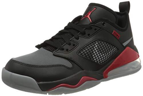 Nike Herren Jordan Mars 270 Low Basketballschuh, Black/metallic Silver-University red, 43 EU